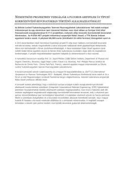 Nemzetközi projektben vizsgálják az innovatív korrózióvédő