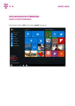 DSL kapcsolat létrehozása Windows 10 alatt