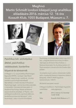 Meghívó Martin Schmidt előadására