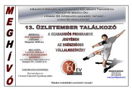 Végleges meghívó, program, támogatók Sportnap 2010