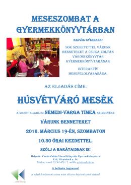 Meseszombat - Csuka Zoltán Városi Könyvtár, Érd
