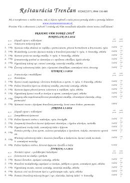 Trencan 29.2. - Reštaurácia Trenčan