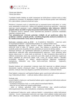 informačný list - KLINICKÁ BIOCHÉMIA sro