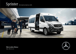 The SprinterTransport Solution. Sprinter - Mercedes-Benz