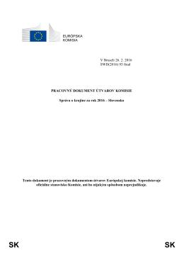 Správa o Slovensku na rok 2016