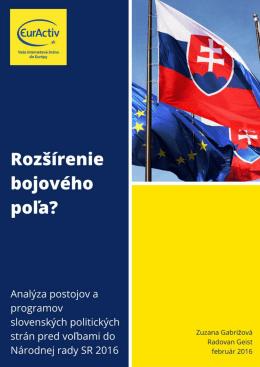 EÚ vo voľbách 2016: Rozšírenie bojového poľa?