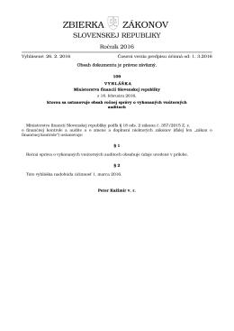 109/2016 - Elektronická zbierka zákonov