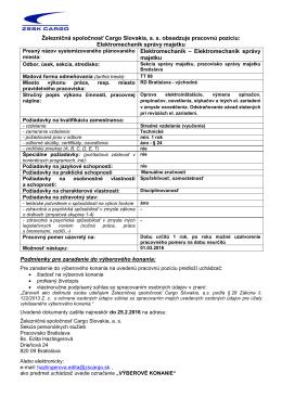 Elektromechanik správy majetku Elektromechanik