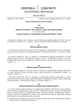 110/2016 - Elektronická zbierka zákonov