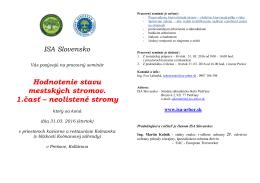 Pozvánka - ISA Slovensko