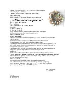 Veľkonočné inšpirácie - Centrum voľného času Považská Bystrica