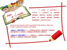 Informácie k zápisu do 1. ročníka