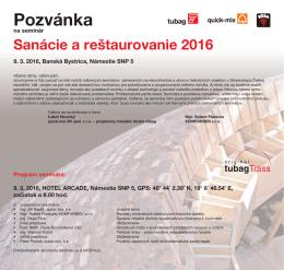 Pozvanka seminare tubag 2016_Banska Bystrica