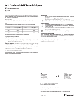 QMS® Everolimové (EVER) kontrolné súpravy