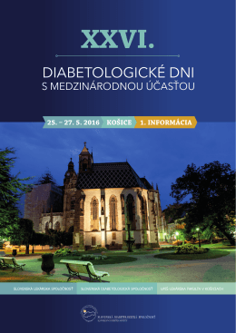 XXVI. diabetologické dni
