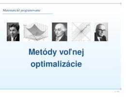 Matematické programovanie
