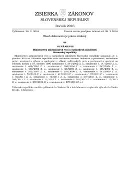 94/2016 - Elektronická zbierka zákonov
