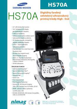 Digitálny farebný celotelový ultrazvukový prístroj triedy High