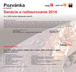 Pozvanka seminare tubag 2016_Kosice