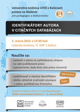 Lekárska knižnica, Tr. SNP 1 Košice 2. marca 2016