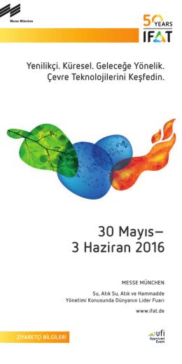 30 Mayıs– 3 Haziran 2016