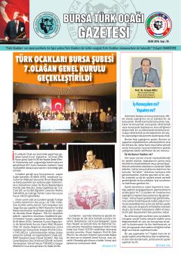 türk ocakları bursa şubesi 7.olağan genel kurulu geçekleştirildi