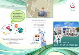 hasta bilgilendirme broșürü - Eskişehir Ağız ve Diş Sağlığı Merkezi