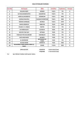 halk oyunları b grubu öğrenci listesi