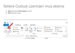 İletilere Outlook üzerinden imza ekleme