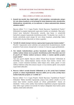 İKTİSADİ GELİŞME MALİ DESTEK PROGRAMI-6 (TRA2-16