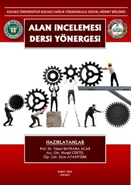 Alan İncelemesi Dersi Yönergesi - Kocaeli Üniversitesi | Sosyal