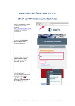 Örgün Öğrenci - Anadolu Üniversitesi
