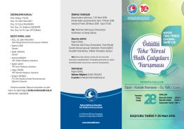 Yarışma Şartnamesi - Mehmet Akif Ersoy Üniversitesi