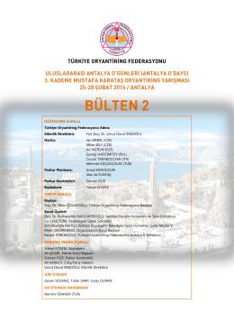 DÜZENLEME KURULU Türkiye Oryantiring Federasyonu Adına