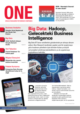 Big Data: Hadoop, Gelecekteki Business Intelligence