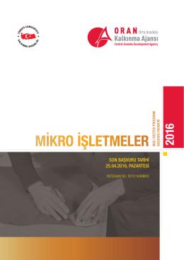 mikro işletmeler - Orta Anadolu Kalkınma Ajansı