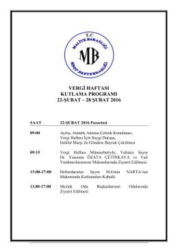 27. Vergi Haftası Programı