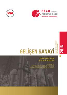 gelişen sanayi - Orta Anadolu Kalkınma Ajansı