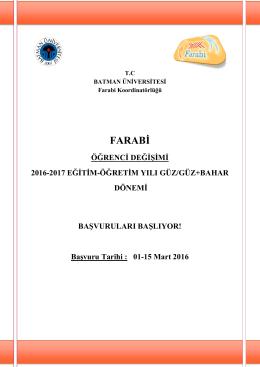 farabi - Batman Üniversitesi
