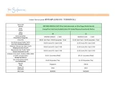 Liman/ Service point: EVYAP (LIMANI / TERMINAL)