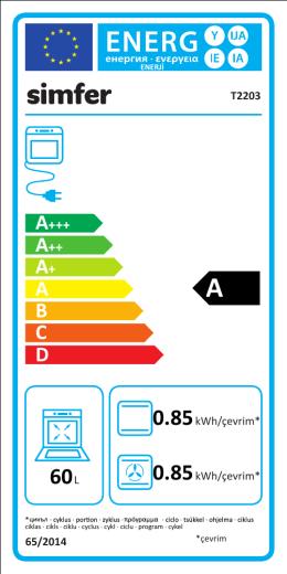 t2203 enerji etiketi büyük kazan