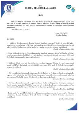 tc bodrum belediye başkanlığı