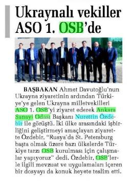 Ukraynalı vekiller ASO1. OSB`de