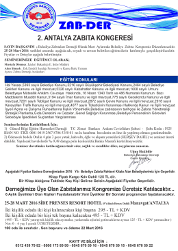 ZAB-DER Belediye Zabıtaları Derneği