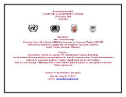 Uluslararası destekli 5.GERİATRİ ve GERONTOLOJİ KURSU 25
