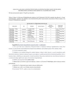 Engelli İşçi Alımı(1.ve 4. Bölge)