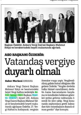 Vatandaş vergiye - Ankara Sanayi Odası
