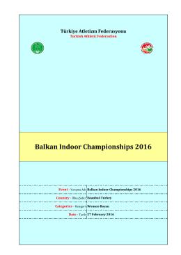 Balkan Indoor Championships 2016