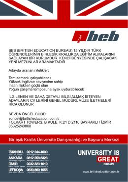 Birleşik Krallık Üniversite Danışmanlığı ve Başvuru Merkezi