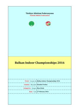 Erkek sonuçları - Türkiye Atletizm Federasyonu